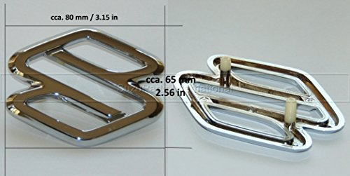 Suzuki Baleno Vitara Sidekick Swift Wagon R grille badge emblem logo chrome - 77811-74F00