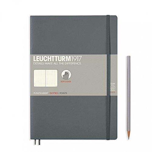Preisvergleich Produktbild Notizbuch Leuchtturm1917Material (B5) mit Punkten, mit, Softcover, 121Seiten Nummeriert, grau