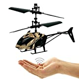 Flying helicopter army in camouflage, easy to control by hand movement gesture control. Very easy to fly. A great gift for all technology freaks. Great Christmas gift! Helicopter, mini drone.