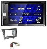caraudio24 JVC KW-V255DBT Bluetooth USB DAB DVD 2DIN MP3 Autoradio für SSang Young Tivoli ab 2015 anthrazit