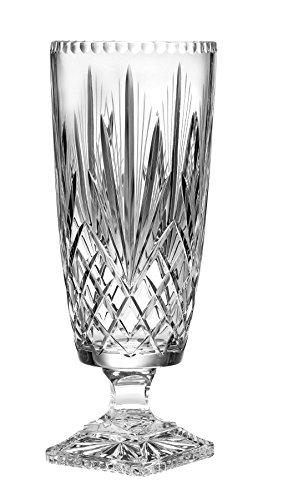 Superb Quality Crystal hervorragene Qualität Kristall ama-116Cut Kristall Mittelpunkt-Beiner Vase, 40cm Crystal Footed Vase
