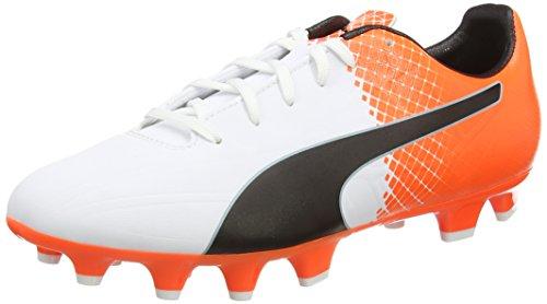 Puma Herren Evospeed 4.5 Fg Fußballschuhe Weiß (puma white-puma Black-SHOCKING Orange 05)