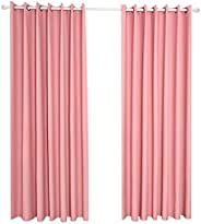 Goolsky Blackout Curtains Thermal Insulating Room Darkening Curtains for Living Room 55