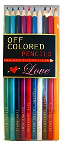 Off Colored Pencils - LOVE - Funky Names For Friendly
