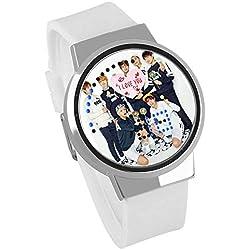Skisneostype BTS - Reloj de Pulsera Deportivo Digital con LED Resistente al Agua para niños, White 04