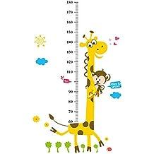 Medidor adhesivo de altura infantil WONZOM, diseño de jirafa, para pegar en la pared y para decorar el hogar