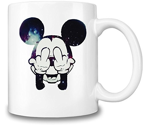 Mickey Mouse Kaffee Tasse-F * ck Off Hot & kalte Getränke Cup-Top Qualität Keramik-11oz/325ml â € EIN Muss Disney Fan Zubehör