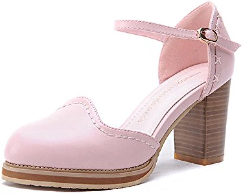 Sandalias Feifei Zapatos de Mujer Verano PU Material Moda Cómodo Antideslizante Resistentes al Desgaste Oro Negro...