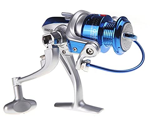 SaySure - 8BB Ball Bearings ST2000 Left/Right Interchangeable Collapsible Handle Fly Fishing Spinning Reel 5.1:1 Blue - GMN-BG-SPT-000446