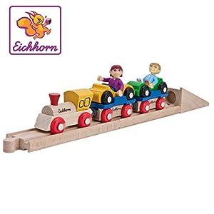 Eichhorn 100001361 modelo de ferrocarril y tren - Modelos de ferrocarriles y trenes (3 año(s), 10 pieza(s), Madera) , Modelos/colores Surtidos, 1 Unidad