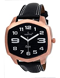 HASHTAG Analogue Black Dial Men's Watch