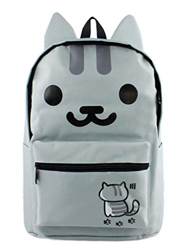 Cosstars Neko Atsume Anime Süße Ohren Studenten Schultasche Rucksack Backpack Büchertasche Jungen Mädchen