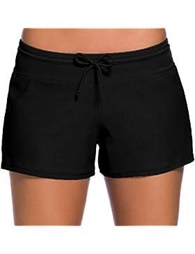 Honghu Mujer Shorts de baño trajes de baño Bañador Deportivo Traje de Baño Bañador de natación Bikini Para Mujer...