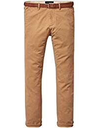 Scotch & Soda Chino Men AMSTERDAM BLAUW 139144 Braun 0414