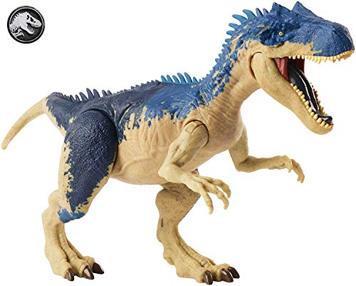 Jurassic World Mega Ataque Doble, Alosaurio, dinosaurio de juguete (Mattel GGX96)