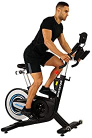 Sunny Health & Fitness Unisex Adult 6100 Asuna Sprinting Commercial Indoor Cycling Bike - Black, One