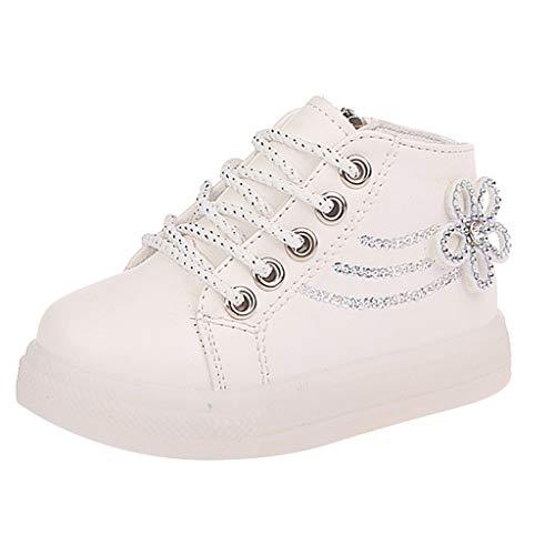 BoyYang Schuhe Kleinkind Baby LED Licht Schuhe, Mädchen Jungen Weiche Luminous Atmungsaktives Outdoor Sportschuhe Sneaker Herbst Winter Turnschuhe 21-30 (28,Weiß)