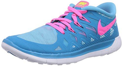 Nike - Free 5.0, pantofole per bambine e ragazze Blu(Blau (Blue Lagoon/Pink Pow-White-Vlt))