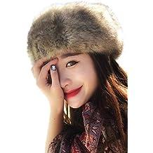Zinmuwa Sombrero del Estilo Ruso De La Venda de la Piel Sintética del  Invierno Earwarmer Earmuff 4532f54e42c