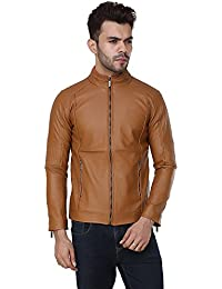 Derbenny High Quality Premium Tan Leather jacket For Men
