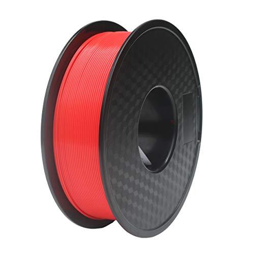 THUMWAN PLA Filament 1,75 mm Rot, 3D-Drucker Filament PLA für 3D-Drucker und 3D-Stift, ± 0,03mm Toleranz, 1 kg