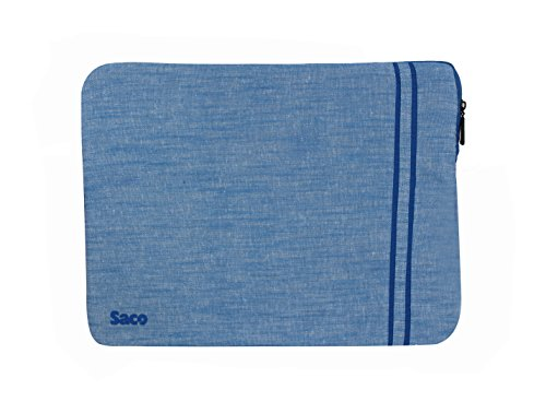 Saco Laptop Notebook Sleeve Bag Zipper Case with accessories adapter pocket for Apple MGX72HN/A MacBook Pro Notebook 13.3 inch laptop (Blue)  available at amazon for Rs.611