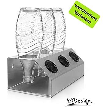 Sodastream Crystal inkl ktDesign 2er Abtropfhalter mit Abtropfschale aus Edelstahl f/ür z.B Deckelhalterung
