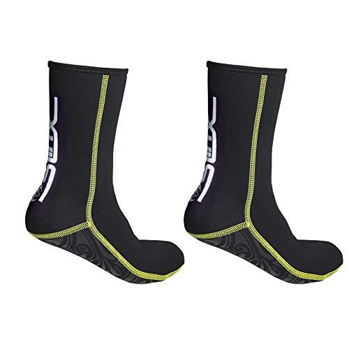 TZTED Tauchsocken Neoprensocken 3Mm-Dicke Wassersport Tauchen Schwimmen Socken, Für Tauchen, Schnorcheln Und Wassersport, Anti-Rutsch-Flossen-Socken Für Männer, Frauen,XL