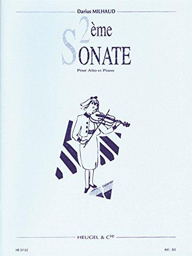 Darius Milhaud: Sonata For Viola And Piano No.2. Für Bratsche, Klavierbegleitung
