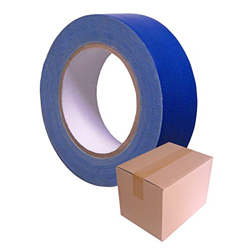 GEWEBE-KLEBEBAND Blau T104, 19 mm x 25 m / Krt a 64 Rollen