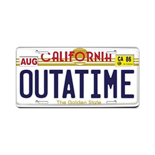 License Cover Front Plate (CafePress–Replica zurück in die zukunft Aluminium Nummernschild–Aluminium License Plate, Front Nummernschild, Vanity Tag, dunkel)