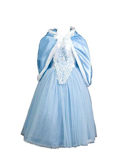 D'amelie Prinzessin Kostüm Kinder Glanz Kleid Mädchen Weihnachten Verkleidung Karneval Rollenspiele Party Halloween Fest (Kostüm Flasche Jager)