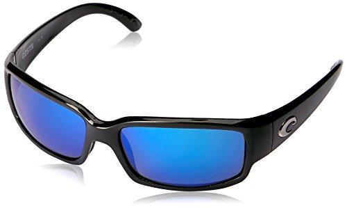 Lunettes polarisantes COSTA Caballito Black 580G bleu mirror