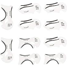 Steellwingsf - 10 plantillas de maquillaje transparentes para delinear cejas, herramientas de modelado de belleza