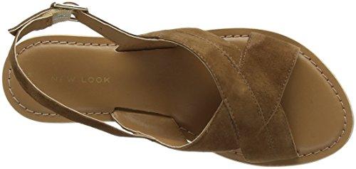 New Look 5066017, Sandali Donna Marrone (Tan)