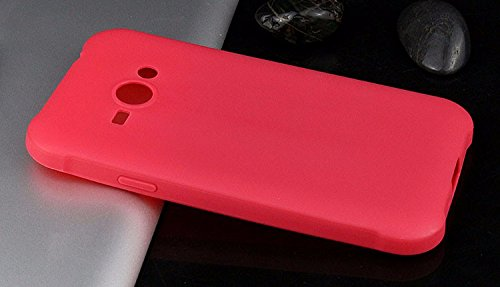 mStick Candy Color Ultra Slim Soft Silicon Back Cover For Samsung Galaxy J1 Ace / DUOS Red- Pink  available at amazon for Rs.99