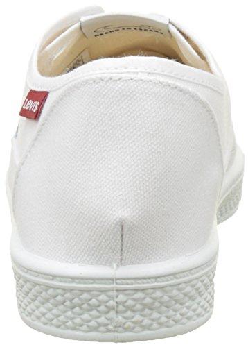 Levis Malibu, Sneaker Homme Blanc (blanc Brillant)