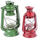 Stall-Laterne rot Lampe Öllampe Windlicht Petroleumlampe XL 310mm /color mix/