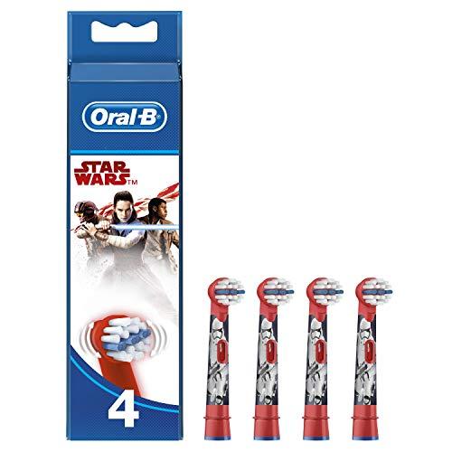 Oral-B Stages Power Testine di Ricambio per Spazzolino Elettrico Oral-B, con Personaggi di Star Wars, 4 Pezzi