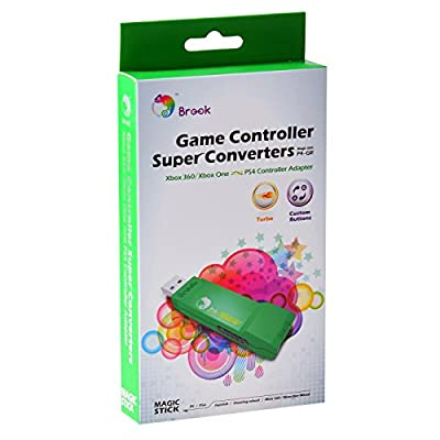 Gam3Gear Brook ZPPN002 XBox 360 / Xbox ONE to PS4 Super Converter Controller Gaming Adapter with FREE Keychain from Brook
