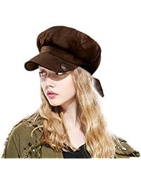 MARRYME Cappello da Donna Visiera Cappelli Basco e Donne Elegante Berretto  Ottagonale Retro Ragazze Primavera  89877839931c