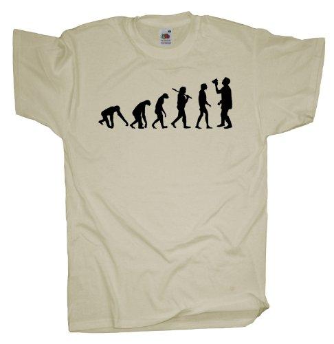 Ma2ca - Evolution - Fasching Bier Saufen T-Shirt Natural