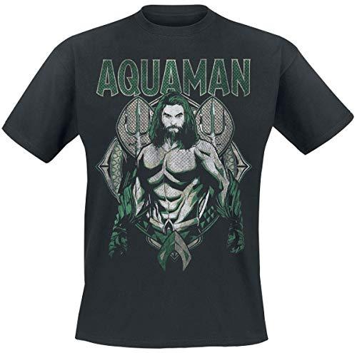 Aquaman Scales Camiseta Negro M