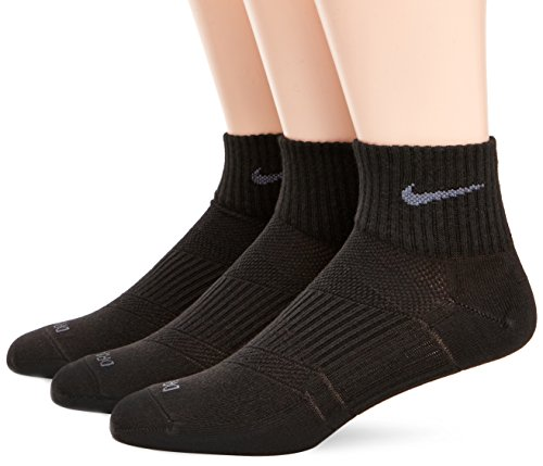Dri-fit Quarter Socken (Nike Uni Dri-FIT Lightweight One Quarter Socken, Strümpfe Dri Fit Lightweight Quarter 3er Pack , Gr. Medium , Schwarz)