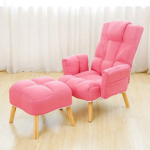 MSG ZY Moderne Chaiselongues im lässigen Stil. Die Rückenlehne hat 6 einstellbare Optionen (45-170 °). Superweich,Pink