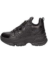 Guess Scarpe Sneaker con Zeppa MOD. BLUSHY in Ecopelle Nero Donna DS19GU60 bf257cbe8bb