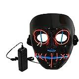 LCLrute Halloween Maske LED Beleuchtung Maskerade Party Halloween Kostüm (Rot)