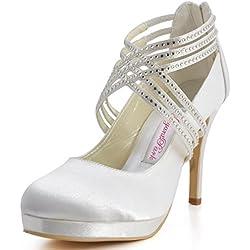 ElegantPark EP11085-PF Zapatos de tac¨®n Plataforma