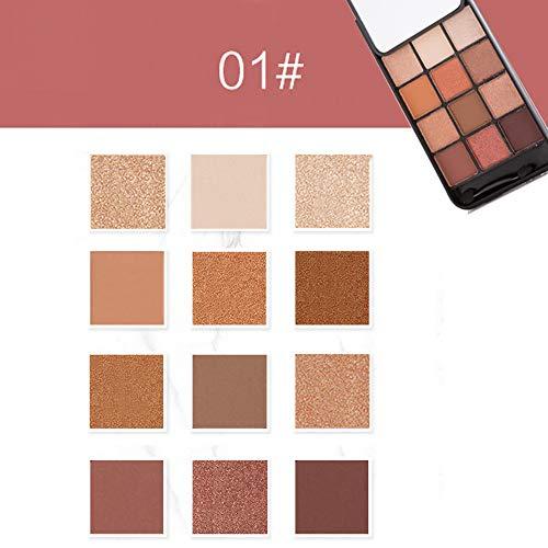 Beisoug New 12 Couleurs Fard À Paupières Shimmer Mat Palette Cosmetic Brush Mirror Makeup Set