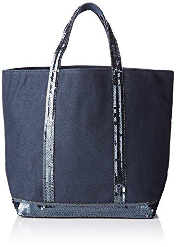 vanessa bruno femme medium cabas bleu 781 pyrite taille unique opinion boutique. Black Bedroom Furniture Sets. Home Design Ideas